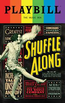 Shuffle Along - June 2016 Playbill with Rainbow Pride Logo