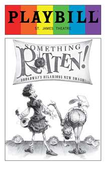 Something Rotten - June 2016 Playbill with Rainbow Pride Logo