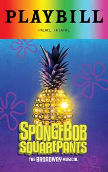 Spongebob Squarepants - June 2018 Playbill with Rainbow Pride Logo