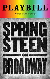 Springsteen on Broadway - June 2018 Playbill with Rainbow Pride Logo