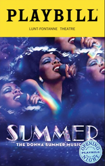Summer: The Donna Summer Musical Limited Edition Official Opening Night Playbill