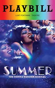 Summer The Donna Summer Musical - June 2018 Playbill with Rainbow Pride Logo