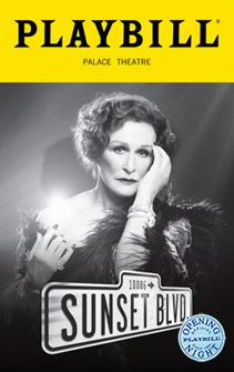 Sunset Boulevard the Broadway Musical (2017 Revival) Limited Edition Official Opening Night Playbill