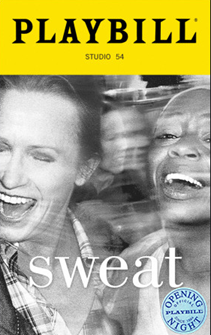 Sweat Limited Edition Official Opening Night Playbill