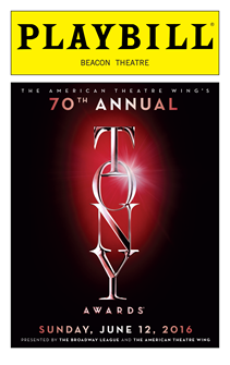 The 2016 Tony Awards Playbill