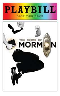 The Book of Mormon - June 2018 Playbill with Rainbow Pride Logo