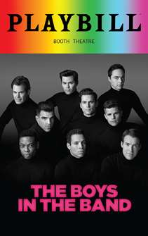 The Boys In The Band - June 2018 Playbill with Rainbow Pride Logo