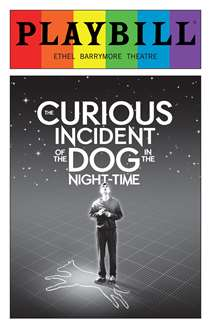 The Curious Incident of the Dog in the Night-Time - June 2016 Playbill with Rainbow Pride Logo