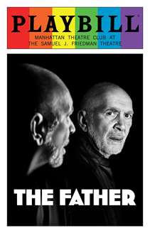 The Father - June 2016 Playbill with Rainbow Pride Logo