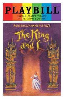 The King and I - June 2016 Playbill with Rainbow Pride Logo