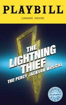 The Lightning Thief: The Percy Jackson Musical Limited Edition Official Opening Night Playbill