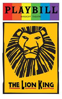 The Lion King - June 2016 Playbill with Rainbow Pride Logo