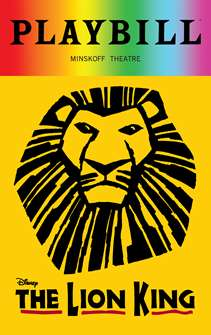 The Lion King - June 2018 Playbill with Rainbow Pride Logo