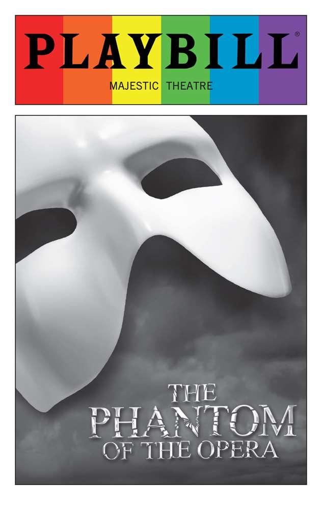 The Phantom Of The Opera June 2016 Playbill With Rainbow