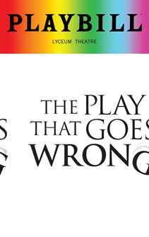 The Play That Goes Wrong - June 2018 Playbill with Rainbow Pride Logo