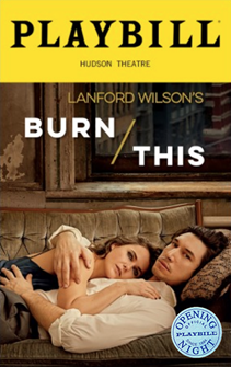 Burn This Limited Edition Official Opening Night Playbill 2019 Revival