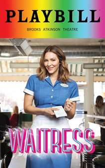 Waitress - June 2018 Playbill with Rainbow Pride Logo