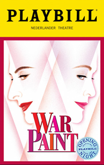War Paint the Broadway Musical Limited Edition Official Opening Night Playbill