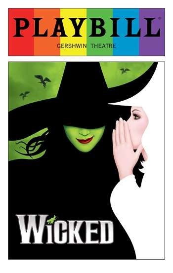Wicked June 2016 Playbill With Rainbow Pride Logo