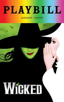 Wicked - June 2018 Playbill with Rainbow Pride Logo