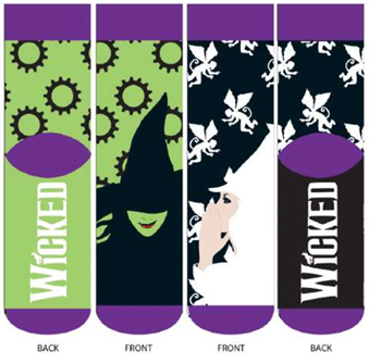 Wicked the Musical - Socks
