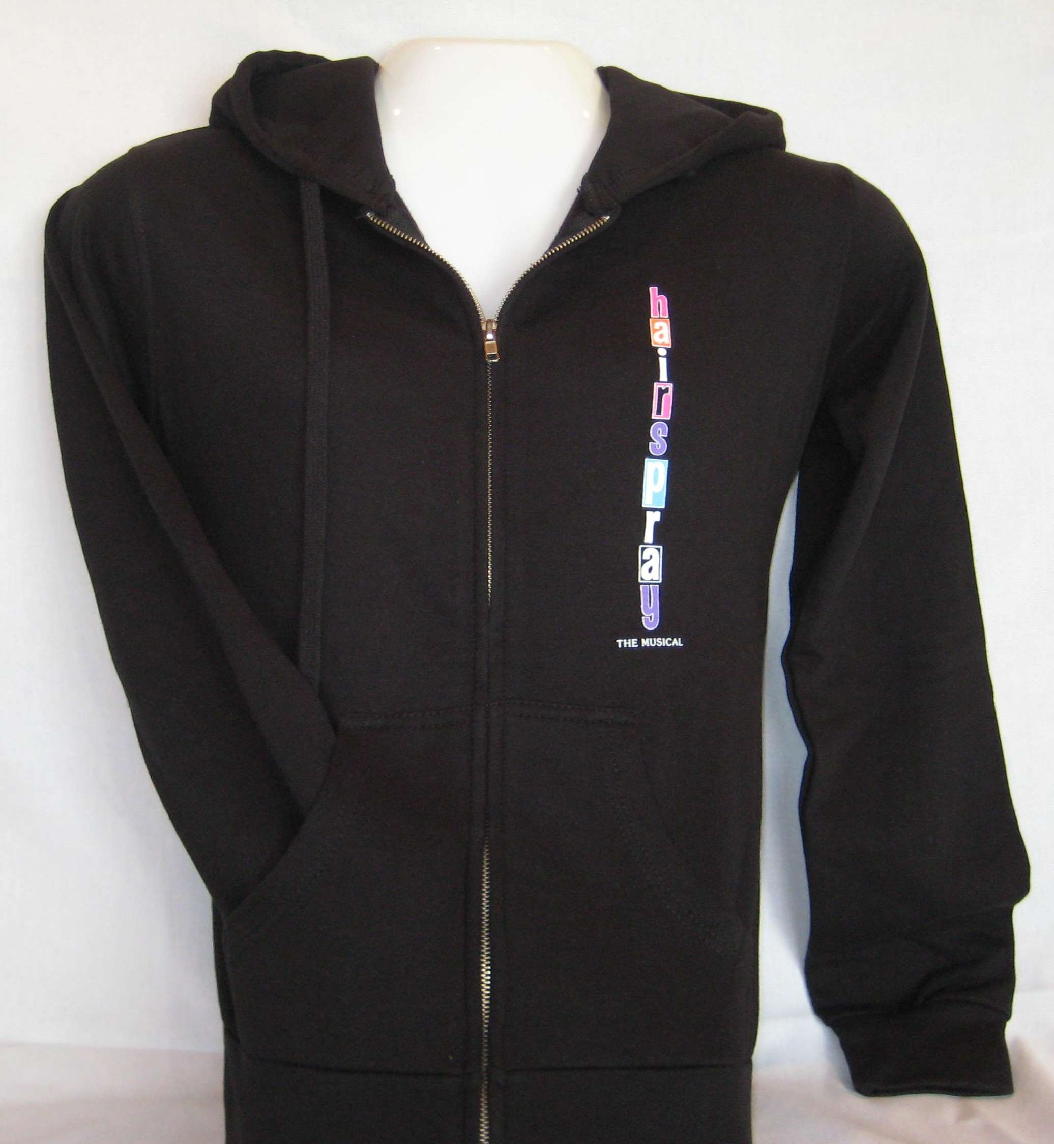 HAIRSPRAY THE MUSICAL BLACK ZIP HOODIE - HSHOOD