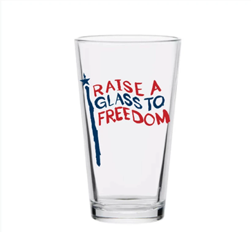 HAMILTON FREEDOM PINT GLASS