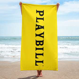 Playbill Beach Towel - Playbill Logo