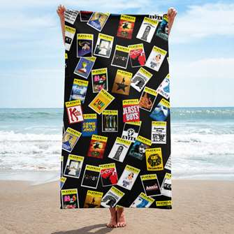 Playbill Beach Towel - Dark Pattern