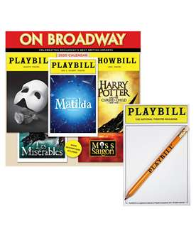 The 2020 On Broadway Calendar and Playbill Notepad Combo