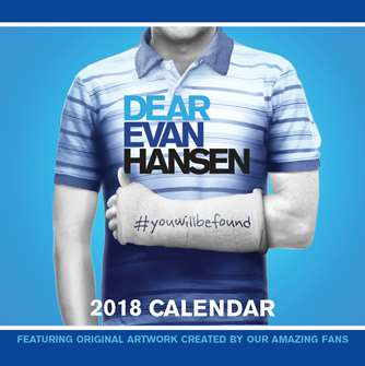 Dear Evan Hansen the Musical - 2018 Calendar