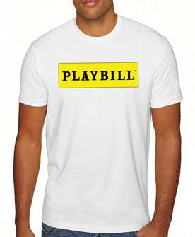 White Playbill Logo T-Shirt