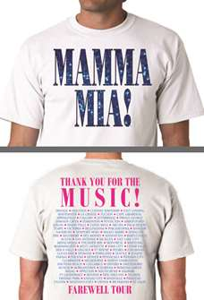 Mamma Mia the Broadway Musical - Farewell Tour T-shirt