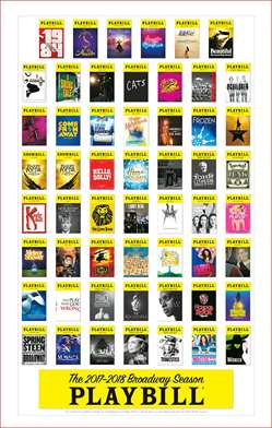 Broadway Season Playbill Poster 2017 - 2018