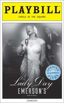 Lady Day at Emersons Bar & Grill Limited Edition Official Opening Night Playbill